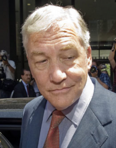 Conrad Black leaving a federal court building in Chicago